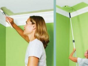 Как покрасить потолок водоэмульсионной краской без разводов и проблем?