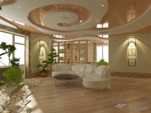 Конструкция потолка из гипсокартона с подсветкой своими руками