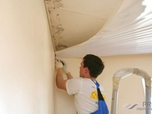 Как отремонтировать натяжной потолок своими руками