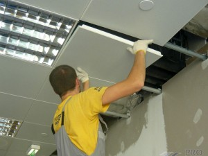 Технология монтажа потолка армстронг