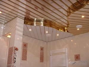Реечный подвесной потолок в ванной комнате своими руками