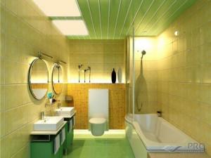 Пластиковый потолок в ванной своими руками и его преимущества