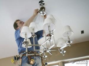 Как повесить люстру на бетонный потолок самостоятельно?