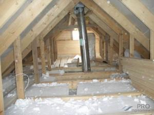 Как утеплить потолок изнутри дома?
