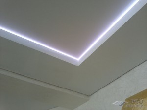Двухуровневый потолок с подсветкой: лучшие решения