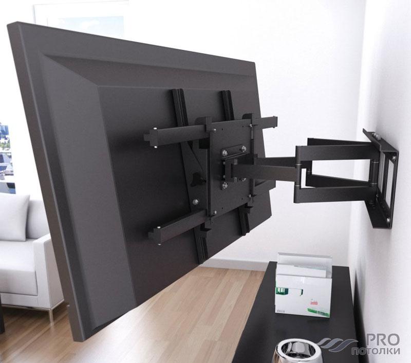 Крепление телевизора к потолку кронштейны и потолочные