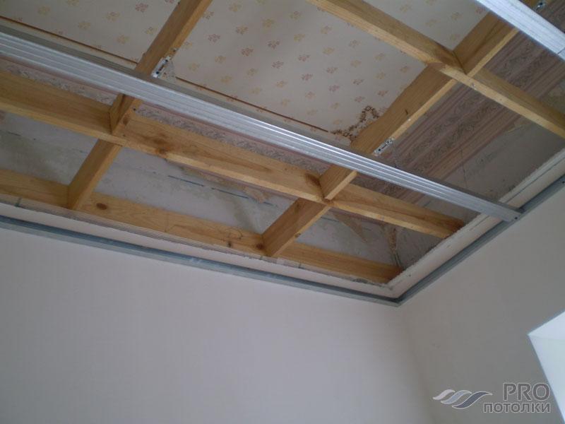 Как крепится натяжной потолок к гипсокартону