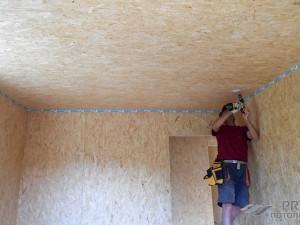 Потолок из ОСБ плит и его отделка: способы монтажа