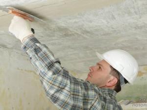 Как зашпаклевать потолок: важные моменты процедуры