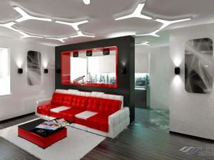 Потолки стиля хай-тек в дизайне интерьера